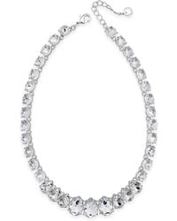 Charter Club - Crystal Collar Necklace - Lyst