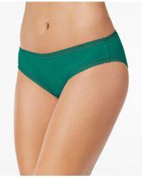 Charter Club - Cotton Lace-trim Bikini, Created For Macy's - Lyst