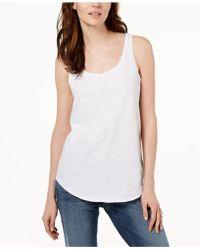 Eileen Fisher - System Organic Cotton Tank Top, Regular & Petites - Lyst