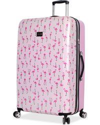 "Betsey Johnson - Flamingo Strut 30"" Hardside Spinner Suitcase - Lyst"