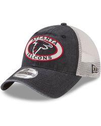 430d0e2e2 Lyst - Ktz Atlanta Falcons Team Stripe Bucket Hat in Black for Men