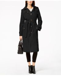 London Fog - Hooded Belted Trench Coat - Lyst