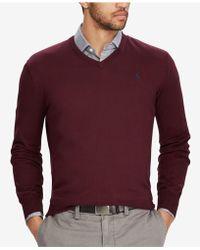 Polo Ralph Lauren   Men's V-neck Sweater   Lyst