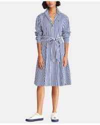 Polo Ralph Lauren - Broadcloth Cotton Shirtdress - Lyst