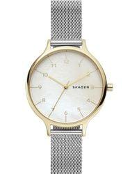 Skagen - Anita Stainless Steel Mesh Bracelet Watch 36mm - Lyst