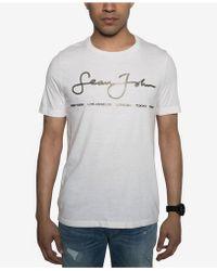 Sean John - Signature Script T-shirt, Created For Macy's - Lyst