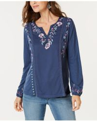 Style & Co. - Floral-embroidered Top, Created For Macy's - Lyst