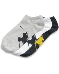 Polo Ralph Lauren - Socks, Athletic Big Polo Player Sole Socks 3 Pack - Lyst