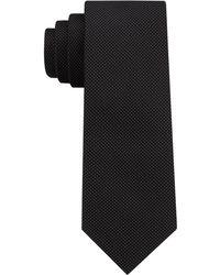 DKNY - Micro Dash Silk Slim Tie - Lyst