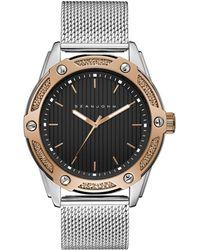 Sean John - Men's Corsica Stainless Steel Mesh Bracelet Watch 46mm - Lyst