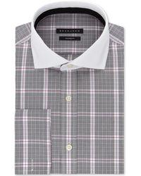 Sean John - Big & Tall Classic/regular-fit Check French Cuff Dress Shirt - Lyst