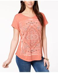 Style & Co. - Graphic T-shirt, Created For Macy's - Lyst