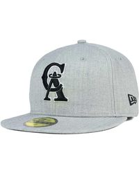 timeless design 5c86a 1580f KTZ - Los Angeles Angels Of Anaheim Heather Black White 59fifty Cap - Lyst