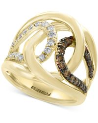 Effy Collection - Diamond Interlocking Ring (3/4 Ct. T.w.) In 14k Gold - Lyst