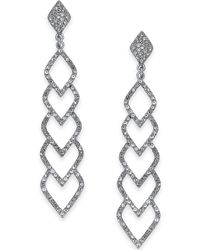 INC International Concepts - I.n.c. Silver-tone Pavé Linear Drop Earrings, Created For Macy's - Lyst