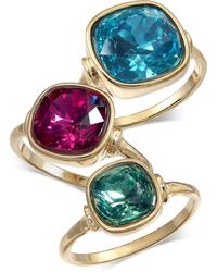 INC International Concepts - I.n.c. Gold-tone 3-pc. Set Stone Statement Rings, Created For Macy's - Lyst