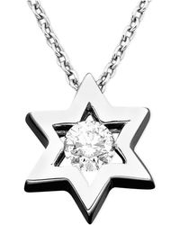 Effy Collection - Diamond Star Of David Pendant (1/5 Ct. T.w.) In 14k White Gold - Lyst
