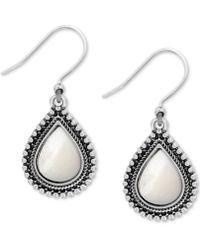 Lucky Brand - Silver-tone Imitation Pearl Drop Earrings - Lyst