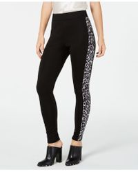 INC International Concepts - I.n.c. Shaping Leopard-print & Solid Leggings, Created For Macy's - Lyst