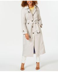 London Fog Water-repellent Single-breasted Hooded Trench Coat