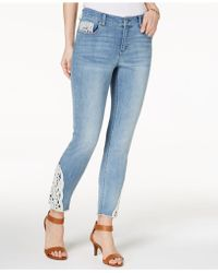 Style & Co. - Petite Crochet-trim Skinny Ankle Jeans, Created For Macy's - Lyst