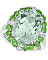 Macy's - Multi-gemstone (9 Ct. T.w.) & Diamond Accent Statement Ring In Sterling Silver - Lyst
