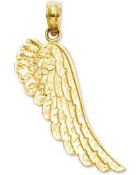 Macy's - 14k Gold Charm, Angel Wing Charm - Lyst