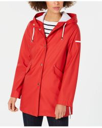 French Connection - Hooded Zip-slit Raincoat - Lyst