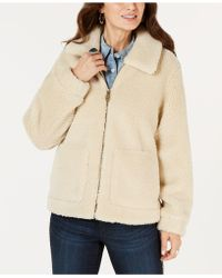 Style & Co. - Faux-shearling Zip-front Teddy Jacket, Created For Macy's - Lyst