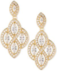 Anne Klein - Marquise Crystal Drop Earrings - Lyst