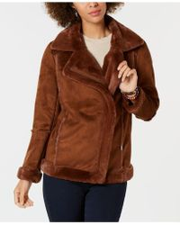 Style & Co. - Faux-shearling Moto Jacket, Created For Macy's - Lyst