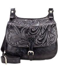 Patricia Nash - Tuscan Tooled London Small Saddle Bag - Lyst
