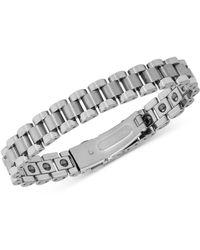 Macy's - Watch Clasp Link Bracelet In Tungsten - Lyst