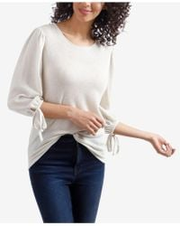 Lucky Brand - Tie-sleeve Top - Lyst