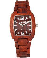Earth Wood - Sagano Wood Bracelet Watch W/date Red 42mm - Lyst