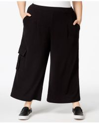 525 America - Plus Size Cropped Cargo Sweatpants, Created For Macy's - Lyst