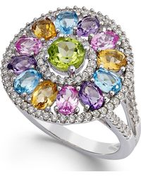 Macy's | Multi-stone Circle Ring (3-1/2 Ct. T.w.) In Sterling Silver | Lyst