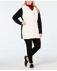 Calvin Klein - Performance Plus Size Colorblocked Hooded Walker Jacket - Lyst