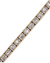 Macy's - Diamond Bracelet In (2 Ct. T.w.) 14k Gold - Lyst