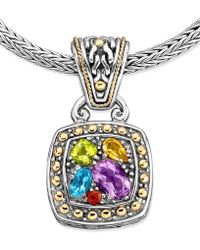 Effy Collection - Multistone Square Pendant (1-5/8 Ct. T.w.) In 18k Gold And Sterling Silver - Lyst