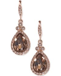 Givenchy - Pavé & Colored Stone Drop Earrings - Lyst