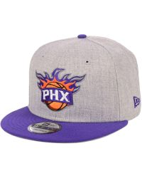 separation shoes 1eafb 2dc5a KTZ - Phoenix Suns Heather Gray 9fifty Snapback Cap - Lyst