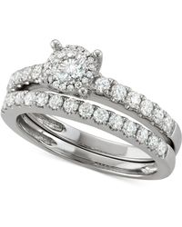 Macy's - Diamond Bridal Set (1/4 Ct. T.w.) In 14k White Gold - Lyst