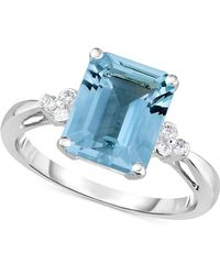 Macy's - Aquamarine (2-3/4 Ct. T.w.) & Diamond Accent Ring In 14k White Gold - Lyst
