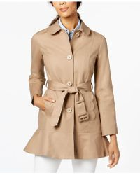Kate Spade - Flared Trench Coat - Lyst