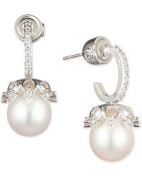 Carolee - Hoop & Cultured Freshwater Pearl Drop Earrings - Lyst