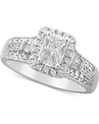 Macy's - Diamond Engagement Ring (1 Ct. T.w.) In 14k White Gold - Lyst