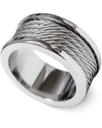 Charriol - Silver-tone Cord Ring 02-01-1139-0-56 - Lyst