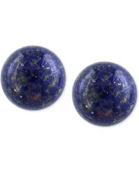 Effy Collection - Lapis Lazuli (10mm) Button Stud Earrings In 14k Gold - Lyst