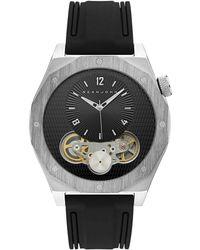 Sean John - Men's Roxburry Black Silicone Strap Watch 46mm - Lyst